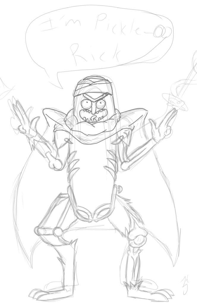 Piccolo Rick Sketch for Web