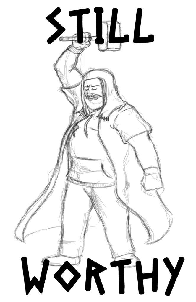 Still Worthy Thor sketch for web